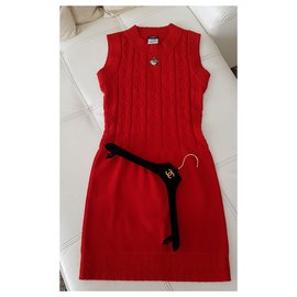 Chanel-Dresses-Red