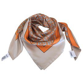 Burberry-Scarf BURBERRY SILK-Orange