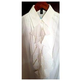 Ralph Lauren-manches longues-Blanc
