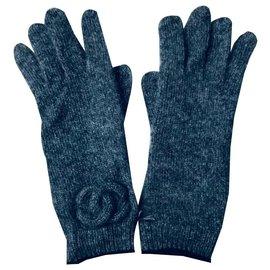 Chanel-Handschuhe-Grau