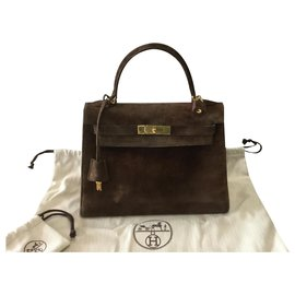 Hermès-Kelly Sellier 28 veal doblis-Brown