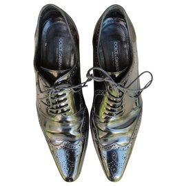 Dolce & Gabbana-Dolce & Gabbana patent leather derbies-Black