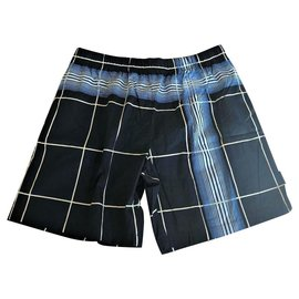 Burberry-BURBERRY MULTIPLE COLOR SWIM SHORTS-Multiple colors,Dark blue