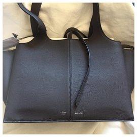 Céline-celine trifold sac à main noir nouveau-Noir