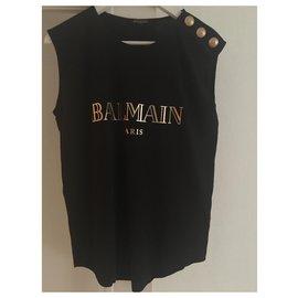 Balmain-Top Balmain-Noir