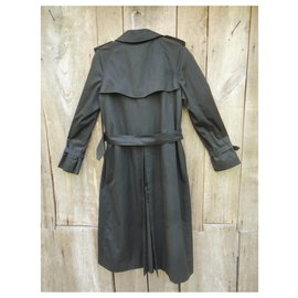 Burberry-vintage Burberry trench 38/40-Black