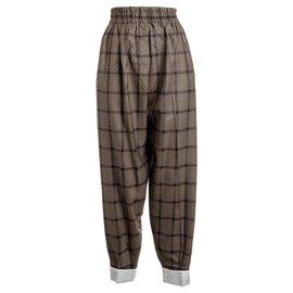 Céline-Pantalons, leggings-Marron