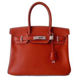 Hermès-HERMES BIRKIN BAG 30 brick-Caramel,Copper