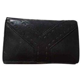 Yves Saint Laurent-Yves Saint Laurent Brieftasche Schwarz-Schwarz
