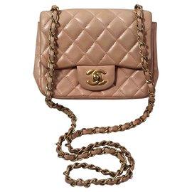 Chanel-Mini Chanel classique-Rose,Beige,Pêche
