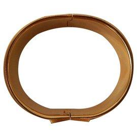 Hermès-Hermès: Bracelet émail Clic Clac 1ère Génération. Finition plaqué or. 6,5cm-Multicolore