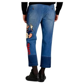 Gucci-Gucci donald duck jeans-Blue