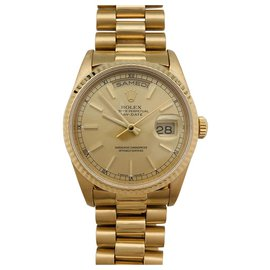 """Rolex-Rolex """"Day-Date"""" -Uhr in Gelbgold auf Gelbgold-Armband des Präsidenten.-Andere"""