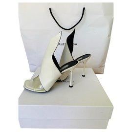 Balenciaga-Slip in Heels-White