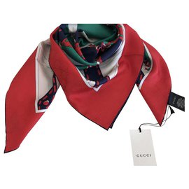 Gucci-Foulard Gucci SOIE-Multicolore