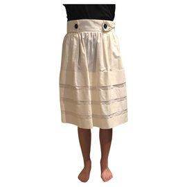 Yves Saint Laurent-Skirts-White