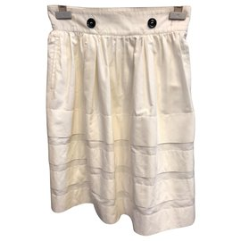 Yves Saint Laurent-die Röcke-Weiß