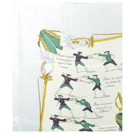 """Hermès-Echarpe Hermès """"Traité des Armes""""-Gris"""