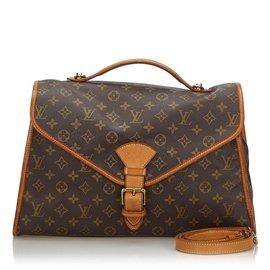 Louis Vuitton-Louis Vuitton Brown Monogram Beverly Porte-documents GM-Marron