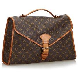 Louis Vuitton-Louis Vuitton Brown Monogram Beverly Aktentasche GM-Braun