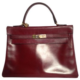 Hermès-Kelly 32-Dark red