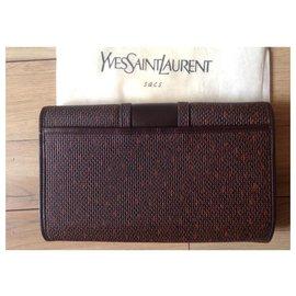 Yves Saint Laurent-Clutch bags-Brown,Orange