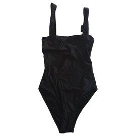 Yves Saint Laurent-Maillot de bain-Noir
