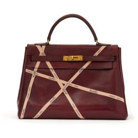 Hermès-Kelly 32 RED HERMES BOLDUCS UNIQUE-Dark red