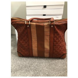 Gucci-Sacs Porte-documents-Marron