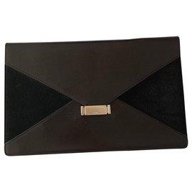 Céline-Celine Diamond clutch black clutch-Black