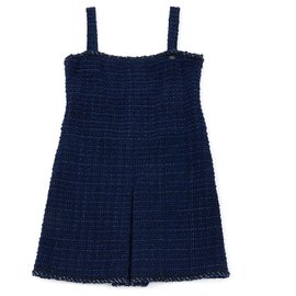 Chanel-NAVY TWEED FR40/42-Navy blue