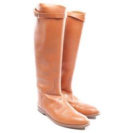 Hermès-Iconic Jumping Boots-Cognac