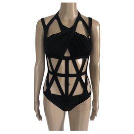 Herve Leger-Swimwear-Black