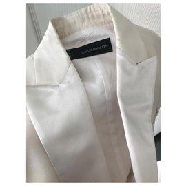 Dsquared2-Manteaux, Vêtements d'extérieur-Crème