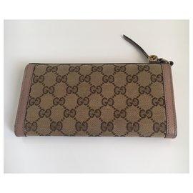 Gucci-Continental monogram wallet-Beige