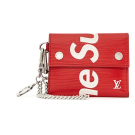 Louis Vuitton-LOUIS VUITTON X SUPREME WALLET AND KEY HOLDER-Red