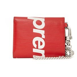 Louis Vuitton-LOUIS VUITTON X SUPREME WALLET AND KEY HOLDER-Rouge
