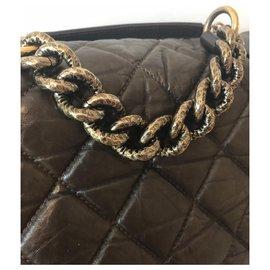 Chanel-Chanel-Bronze,Marron foncé