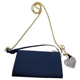 Louis Vuitton-Pochette accessoire-Bleu foncé