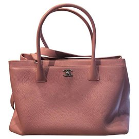 Chanel-Chanel Pink Executive Cerf Tote-Pink