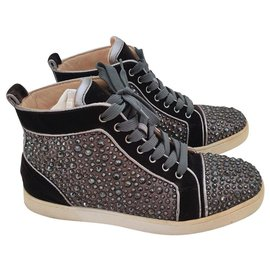 buy online f7976 0dc5d Christian Louboutin strass high top sneakers EU40 - 40 eu