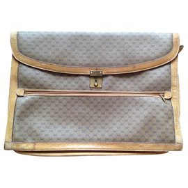 Gucci-Vintage Gucci Briefcase-Beige