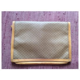 Gucci-porte Documents Gucci Vintage-Beige