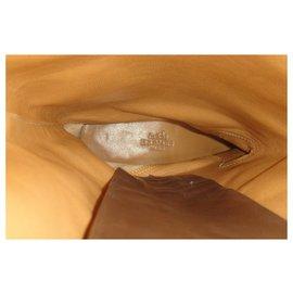 Hermès-cavalry boots Hermès suede effect used-Grey