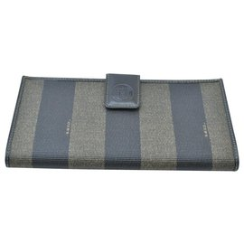 Fendi-Fendi Pequin Wallet-Khaki