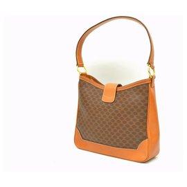 Céline-Céline Macadam Shoulder Bag-Brown