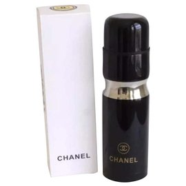 Chanel-CHANEL Stainless Steel Thermos-Black