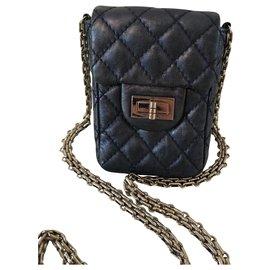 Chanel-Mini-Bleu,Bleu foncé