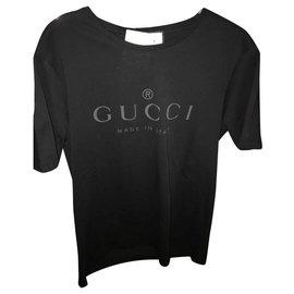 Gucci-tshirt gucci unisexe. NOUVEAU-Noir
