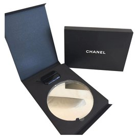 Chanel-CHANEL Makeup Mirror Display with Stand-Black